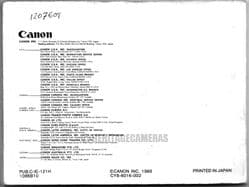 Original Instruction Manual for Canon T90 Classic 35mm SLR